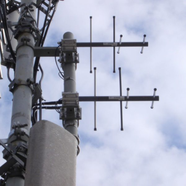 2 x CAX stacked on radio tower with other antennas